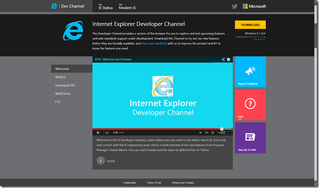 IE Developer Channel