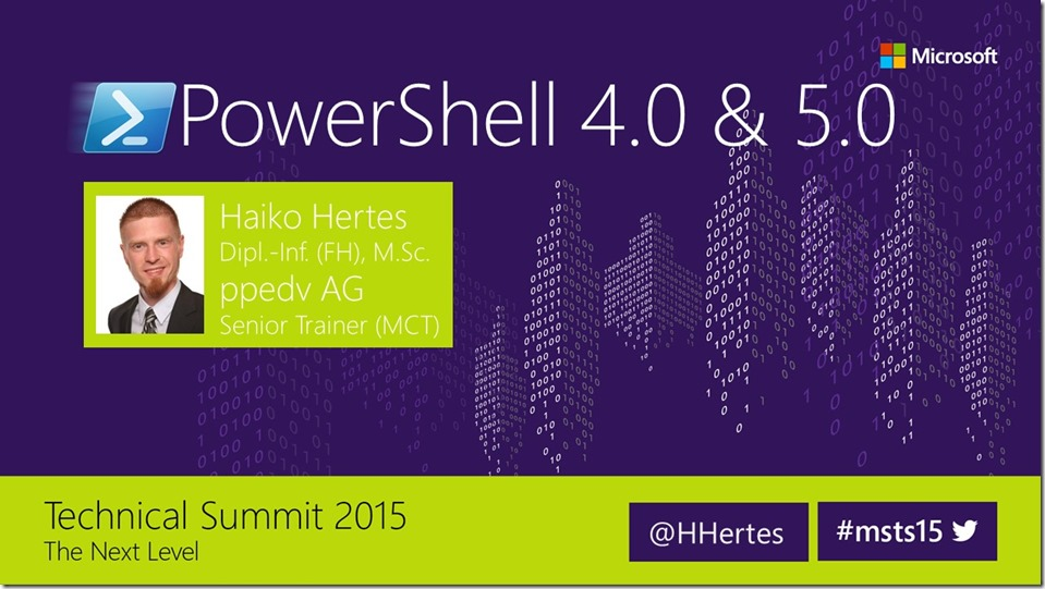 PowerShell Deep Dive – Neuerungen in PowerShell 4.0 und 5.0 - Normal