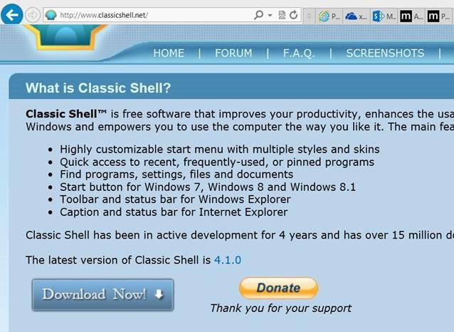 classic shell download