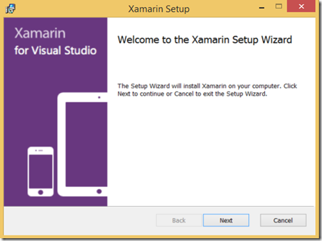 Installation XAMARIN Visual Stuido