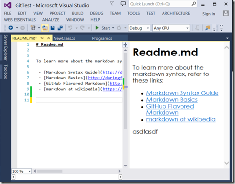 Markdown Editor Visual Studio
