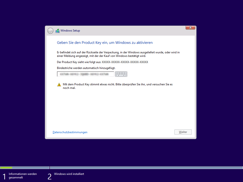 installation key windows 8.1