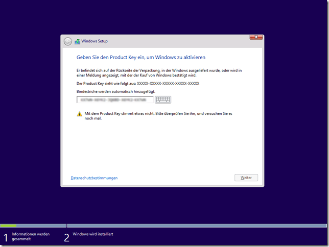 Ppedv team blog windows 8 1 neu installation mit for Window 8 1 product key